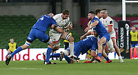 Saturday 12th September 2020 | PRO14 Final - Leinster vs Ulster<br /> <br /> Iain Henderson is tackled by Devin Toner during the Guinness PRO14 Final between Leinster ands Ulster at the Aviva Stadium, Lansdowne Road, Dublin, Ireland. Photo by John Dickson / Dicksondigital