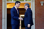 The President of the Government of Spain, Pedro Sanchez (l), receives in La Moncloa Palace the President of Generalitat of Catalonia Quim Torra. July 9,2018. (ALTERPHOTOS/Acero)