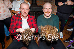 Luke Fitzgerald and Brian O'Shea from Currans after having their heads shaved for their fundraiser for Kerry Parents and Friends Association in Currans on Saturday night