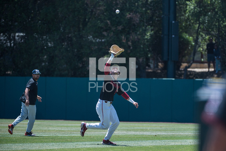 STANFORD, CA - MAY 29: Nick Brueser during a game between Oregon State University and Stanford Baseball at Sunken Diamond on May 29, 2021 in Stanford, California.