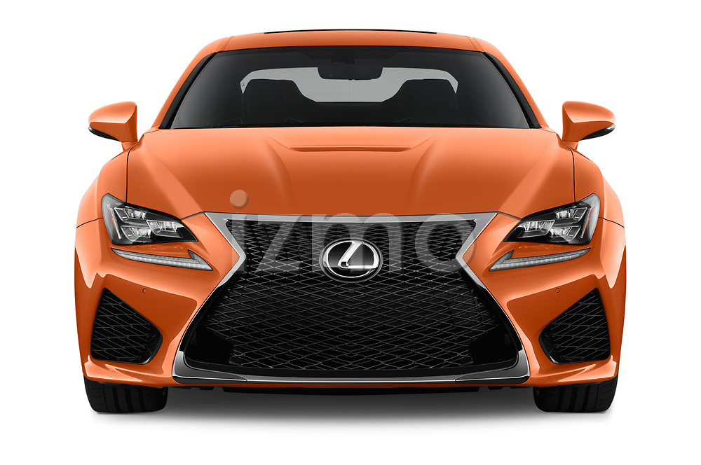 Car photography straight front view of a 2017 Lexus RC F-GT 2 Door Coupe Front View