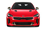Car photography straight front view of a 2019 KIA Stinger GT 5 Door Hatchback