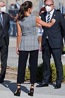 NAVARRA, SPAIN- September 14: **NO SPAIN** Queen Letizia attends the opening of the school year 2020/21 at IES EGA and Nuestra señora del Patrocinio high schools in Navarra, Spain on September14, 2020. Credit: Jimmy Olsen/MediaPunch