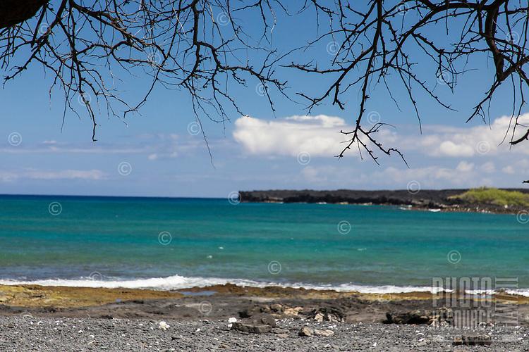 Kiholo Bay, a snorkeling and wildlife viewing area in Kona, Big Island.