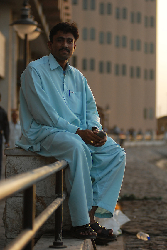 Pakistani worker in Dubai.