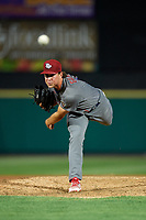 Lehigh Valley IronPigs relief pitcher Tyler Gilbert (12) delivers a pitch during a game against the Rochester Red Wings on June 30, 2018 at Frontier Field in Rochester, New York.  Lehigh Valley defeated Rochester 6-2.  (Mike Janes/Four Seam Images)