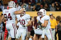 TEMPE, AZ - November 13, 2010: Shayne Skov during a football game at Arizona State University in Tempe, Arizona. Stanford won 17-13.