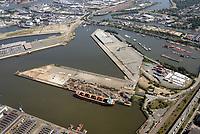 Steinwerder Süd, Mittlerer Freihafen, Travehafen, Oderhafen: EUROPA, DEUTSCHLAND, HAMBURG 22.08.2018 Mittlerer Freihafen, Travehafen, Oderhafen
