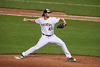 Pittsburgh Pirates pitcher Gerrit Cole during the MLB All-Star Game on July 14, 2015 at Great American Ball Park in Cincinnati, Ohio.  (Mike Janes/Four Seam Images)