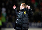 St Johnstone v Celtic…..29.01.20   McDiarmid Park   SPFL<br />An unhappy Neil Lennon as Mikey Johnston goes down injured<br />Picture by Graeme Hart.<br />Copyright Perthshire Picture Agency<br />Tel: 01738 623350  Mobile: 07990 594431