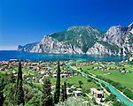 Italy, Trentino, Lake Garda, view at Torbole   Italien, Trentino, Gardasee, Blick auf Torbole am Nordufer