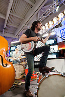 The Avett Brothers perform During The MLB Fan Cave Concert Series in New York City. May 8, 2012. © Kristen Driscoll/MediaPunch Inc.