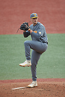 Tennessee Volunteers pitcher Sean Hunley (32) in action against the Charlotte 49ers at Hayes Stadium on March 9, 2021 in Charlotte, North Carolina. The 49ers defeated the Volunteers 9-0. (Brian Westerholt/Four Seam Images)