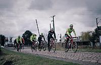 Team Trek-Segafredo during parcours recon of the 116th Paris-Roubaix 2018, 3 days prior to the race