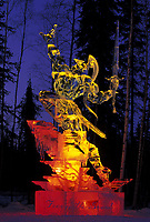 Multi Block Ice sculpture by Junichi Nakamura, at the World Ice Art Championships held each march in Fairbanks, Alaska