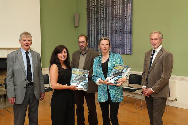 The five editors at the launch of the Coastal Atlas of Ireland (from left) Barry Brunt,Sarah Kandrot, Darius Bartlett, Val Cummins and Robert Devoy
