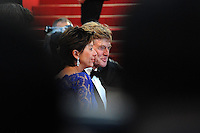 Sibylle Szaggars, Robert Redford .Cannes 22/5/2013 .66mo Festival del Cinema di Cannes 2013 .Foto Panoramic / Insidefoto .ITALY ONLY