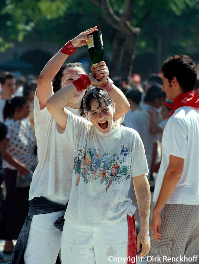 San Fermin, bei der  Eröffnung der Fiesta, Pamplona, Navarra, Spanien