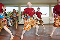 The Albino Revolution Cultural Troupe (ARCT) is composed of 12 members. They're all albinos. It was created in 2000 by artist Tito David Ntanga. They organise musical and theatre performances at conferences, meetings and cultural events. They have already campaigned around issues like HIV/AIDS and civil rights and are now campaigning against the stigmatisation and killing of albinos. Discrimination against albinos is a serious problem throughout sub-Saharan Africa, but recently in Tanzania albinos have been killed and mutilated, victims of a growing criminal trade in albino body parts fuelled by superstition and greed. Limbs, skin, hair, genitals and blood are believed by witch doctors to bring good luck, and are sold to clients for large sums of money, carrying with them the promise of instant wealth.