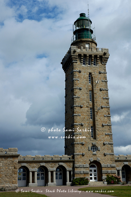 Old lighthouse at Cap Frehel, Brittany, France.