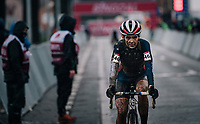 US Champion Clara Honsinger (USA/Cannondale-Cyclocrossworld) crossing the finish line<br /> <br /> UCI cyclo-cross World Cup Dendermonde 2020 (BEL)<br /> Women's Race<br /> <br /> ©kramon