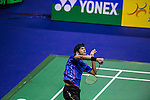 Ajay Jayment of India competes against Ng Ka Long Angus of Hong Kong during the 2016 Hong Kong Open Badminton Championships at the Hong Kong Coliseum on November 25, 2016 in Hong Kong, China. Photo by Marcio Rodrigo Machado / Power Sport Images