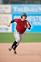 Mahoning Valley Scrappers first baseman Mitch Reeves (1) runs the bases during the second game of a doubleheader against the Batavia Muckdogs on September 4, 2017 at Dwyer Stadium in Batavia, New York.  Mahoning Valley defeated Batavia 6-2.  (Mike Janes/Four Seam Images)