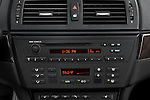 Stereo audio system close up detail view of a 2008 BMW X3