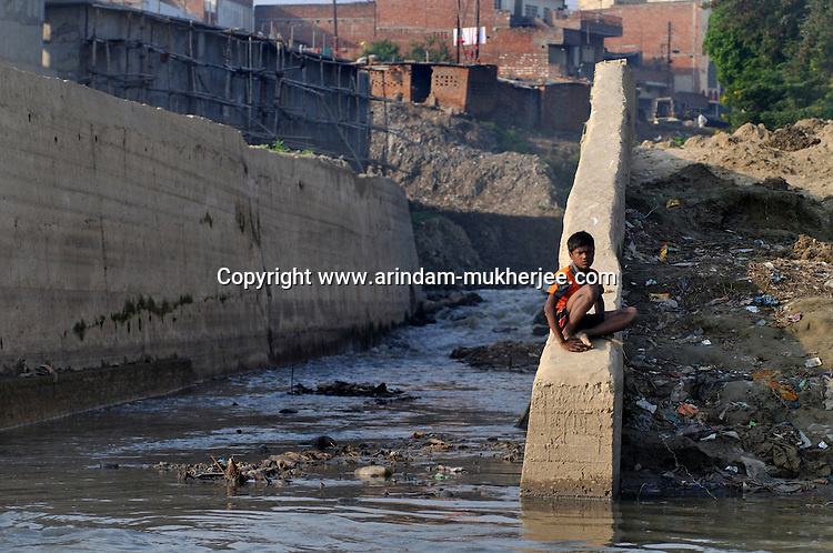 Sweage of Varanasi city falling in Ganga. According to Prof. Veer vadra Mishra this is the main reason for the water pollution in Varanasi. Uttar Pradesh, India. As Varanasi is a religious place millions of pilgrims visit varanasi throughout the year for holy deep in Ganga.