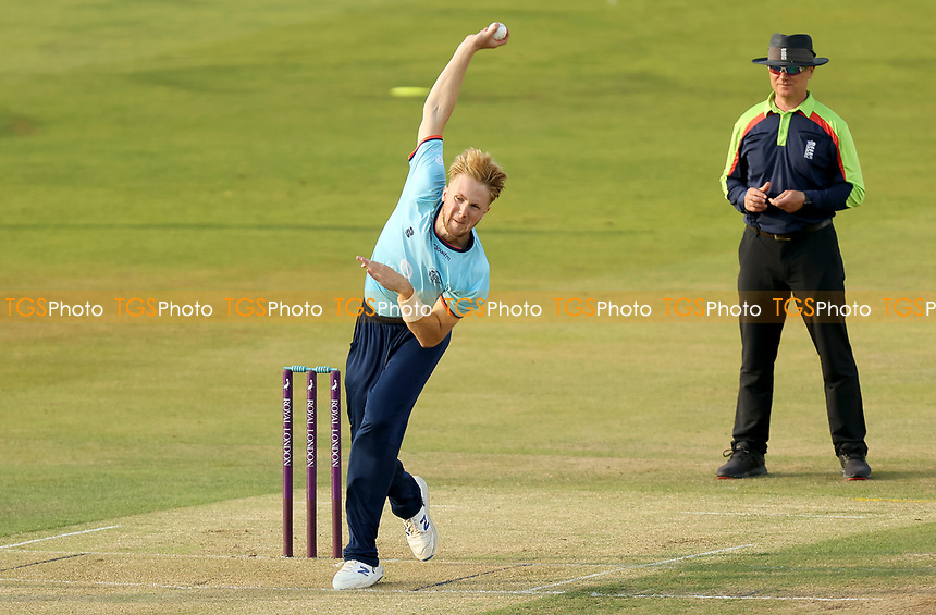 Ben Allison of Essex in bowling action during Essex Eagles vs Cambridgeshire CCC, Domestic One-Day Cricket Match at The Cloudfm County Ground on 20th July 2021