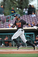 Wes Rogers (24) of the Modesto Nuts bats against the Inland Empire 66ers at San Manuel Stadium on May 20, 2016 in San Bernardino, California. Inland Empire defeated Modesto, 4-2. (Larry Goren/Four Seam Images)