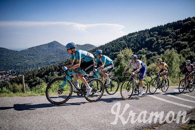 the race leaders up the infamous Muro di Sormano (avg 17%/max 25%) <br /> > Jakob Fuglsang (DEN/Astana), Aleksandr Vlasov (RUS/Astana) & Remco Evenepoel (BEL/Deceuninck-Quickstep)<br /> <br /> 114th Il Lombardia 2020 (1.UWT)<br /> 1 day race from Bergamo to Como (ITA/231km) <br /> <br /> ©kramon