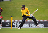Blaze opening batter Jess McFadyen in action during the women's Hallyburton Johnstone Shield one-day cricket match between the Wellington Blaze and Northern Districts at the Basin Reserve in Wellington, New Zealand on Sunday, 22 November 2020. Photo: Dave Lintott / lintottphoto.co.nz
