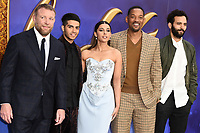 """Guy Ritchie, Mena Massoud, Naomi Scott, Will Smith and Marwan Kenzari and Will Smith<br /> arriving for the """"Aladdin"""" premiere at the Odeon Luxe, Leicester Square, London<br /> <br /> ©Ash Knotek  D3500  09/05/2019"""