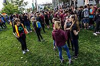 Plus de 500 000 personnes participent a la marche pour le climat, en presence de Greta Thunberg, vendredi 27 septembre 2019, dans les rues de Sherbrooke<br /> <br /> <br /> PHOTO : Agence Quebec Presse - Jean-Francois Dupuis