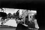 California street sign San Francisco California USA seen from the back of a car. Near Knob Hill 2001.