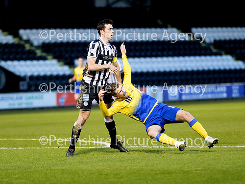 St Mirren v St Johnstone…19.12.20   St Mirren Park      SPFL<br />David Wotherspoon is brought down by Joe Shaughnessy for apenalty<br />Picture by Graeme Hart.<br />Copyright Perthshire Picture Agency<br />Tel: 01738 623350  Mobile: 07990 594431