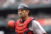July 23, 2008:  The Boston Red Sox's Jason Varitek during a game against the Seattle Mariners at Safeco Field in Seattle, Washington.