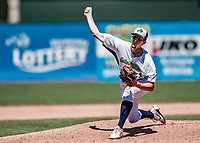 19 July 2018: Vermont Lake Monsters pitcher Chase Cohen on the mound against the Staten Island Yankees at Centennial Field in Burlington, Vermont. Chase registered his first professional career win as the Lake Monsters walked off in the 9th inning with a 2-1 win over the Yankees in NY Penn League action. Mandatory Credit: Ed Wolfstein Photo *** RAW (NEF) Image File Available ***