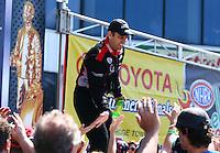 Jun. 2, 2013; Englishtown, NJ, USA: NHRA top fuel dragster driver Larry Dixon during the Summer Nationals at Raceway Park. Mandatory Credit: Mark J. Rebilas-