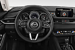 Car pictures of steering wheel view of a 2018 Mazda Mazda6 Dynamique 4 Door Sedan Steering Wheel