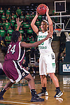 North Texas Mean Green guard Loryn Goodwin (35) in action during the game between the Arkansas Little Rock Trojans and the North Texas Mean Green at the Super Pit arena in Denton, Texas. UALR defeats UNT 52 to 48...