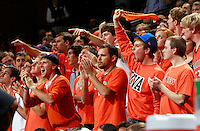 CHARLOTTESVILLE, VA- DECEMBER 6: Virginia Cavaliers fans during the game on December 6, 2011 against the George Mason Patriots at the John Paul Jones Arena in Charlottesville, Virginia. Virginia defeated George Mason 68-48. (Photo by Andrew Shurtleff/Getty Images) *** Local Caption ***