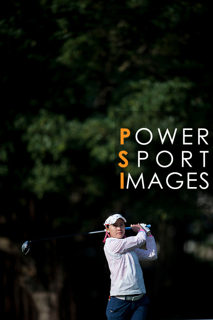 Lanlan Song of China in action during the Hyundai China Ladies Open 2014 at World Cup Course in Mission Hills Shenzhen on December 13 2014, in Shenzhen, China. Photo by Xaume Olleros / Power Sport Images