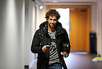 Wednesday, 23 April 2014<br /> Pictured: Jose Canas arriving.<br /> Re: Swansea City FC are holding an open training session for their supporters at the Liberty Stadium, south Wales,