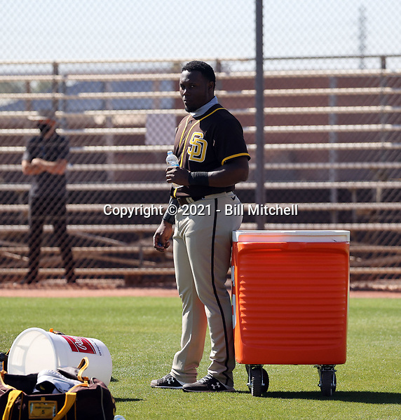 Jorge Ona - San Diego Padres 2021 spring training (Bill Mitchell)