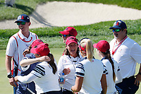 5th September 2021; Toledo, Ohio, USA;  Lexi Thompson talks with vice captain Angels Stanford of Team USA on the 17th green during the morning Four-Ball Pairings during the Solheim Cup on September 5th