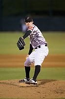 Kannapolis Intimidators relief pitcher Danny Dopico (29) in action against the Asheville Tourists at Kannapolis Intimidators Stadium on May 5, 2017 in Kannapolis, North Carolina.  The Tourists defeated the Intimidators 5-1.  (Brian Westerholt/Four Seam Images)