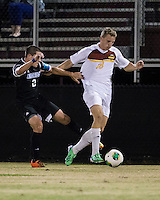 The Winthrop University Eagles beat the UNC Asheville Bulldogs 4-0 to clinch a spot in the Big South Championship tournament.  Max Hasenstab (18), Bobby Castro (2)