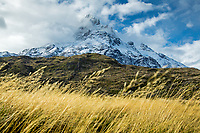 View on Paine Grande after a spring snow storm, Torres del Paine National Park, Chile